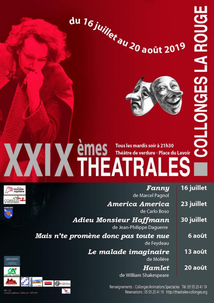 Affiche théâtrales de Collonges 2019